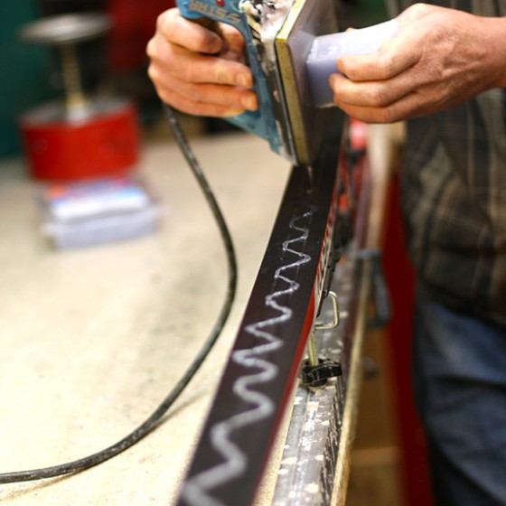 Waxing Nordic skis