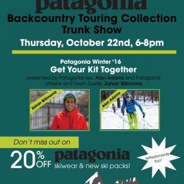 Patagonia Backcountry Touring Collection Trunk Show